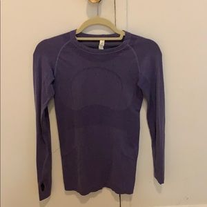 Purple Lululemon Long Sleeve Shirt Size 6